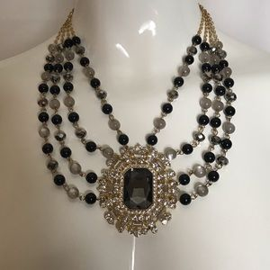 Jewelry - Eye Catching Costume Jewelry Black and Silver